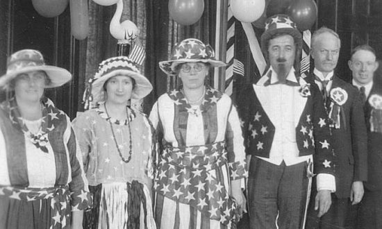 Celebrating: an American themed dance in Marlborough Town Hall (Photo courtesy Marlborough History Society - with thanks)