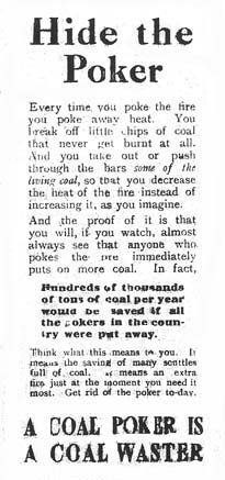 Another plea to householders from the Coal Mines Department