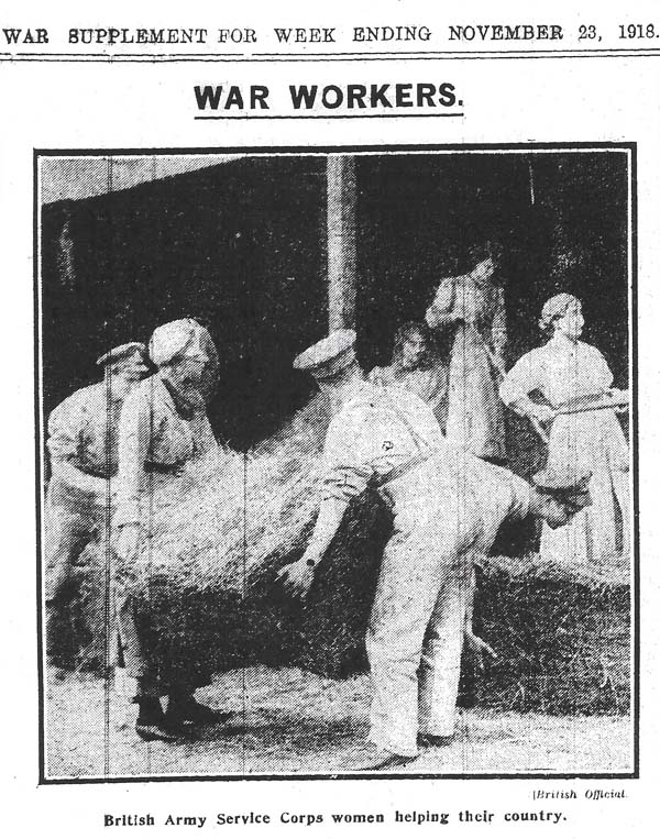 This official 'war photo' was published after the 1918 General Election had been called - the Coalition government needed women's votes