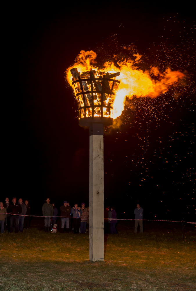 Marlborough's Beacon ablaze