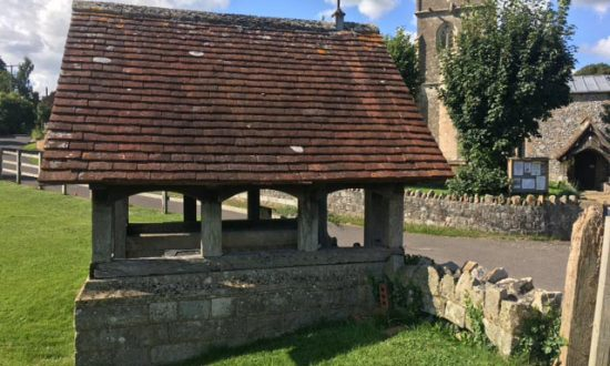 Lychgate at Fyfield Church, a memorial to the fallen of WW1 now to be joined by a dedicated copse of trees adjacent to the Kennet Valley Hall