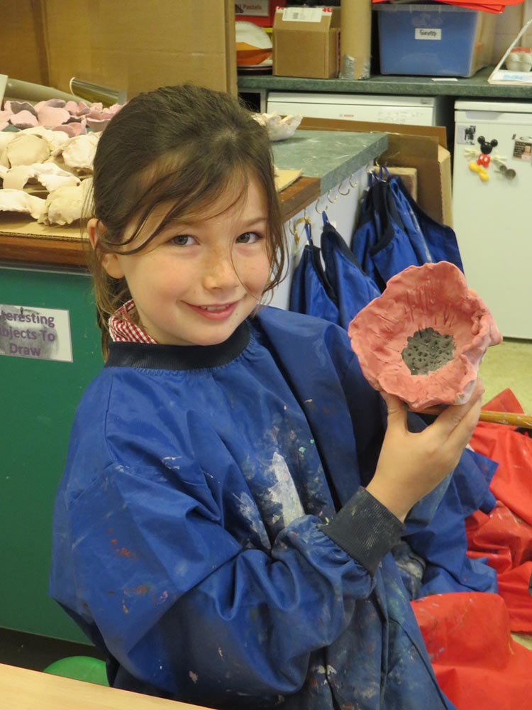 Making the ceramic poppies