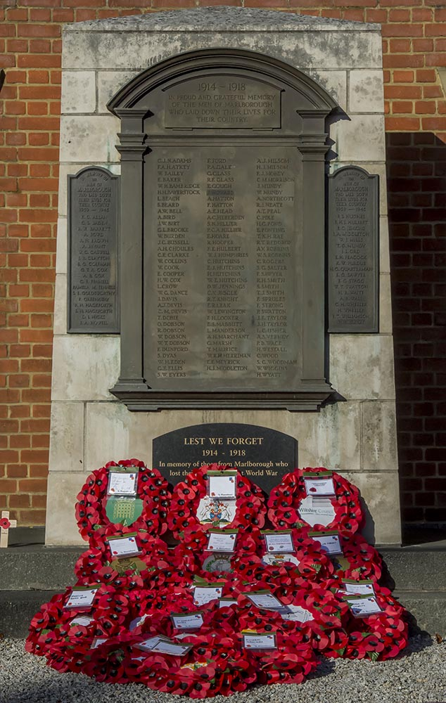 The array of wreaths laid during this morning's ceremony