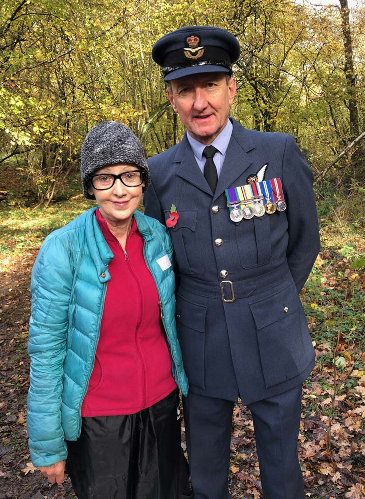 Wing Commander John Parsons with Claire Costello