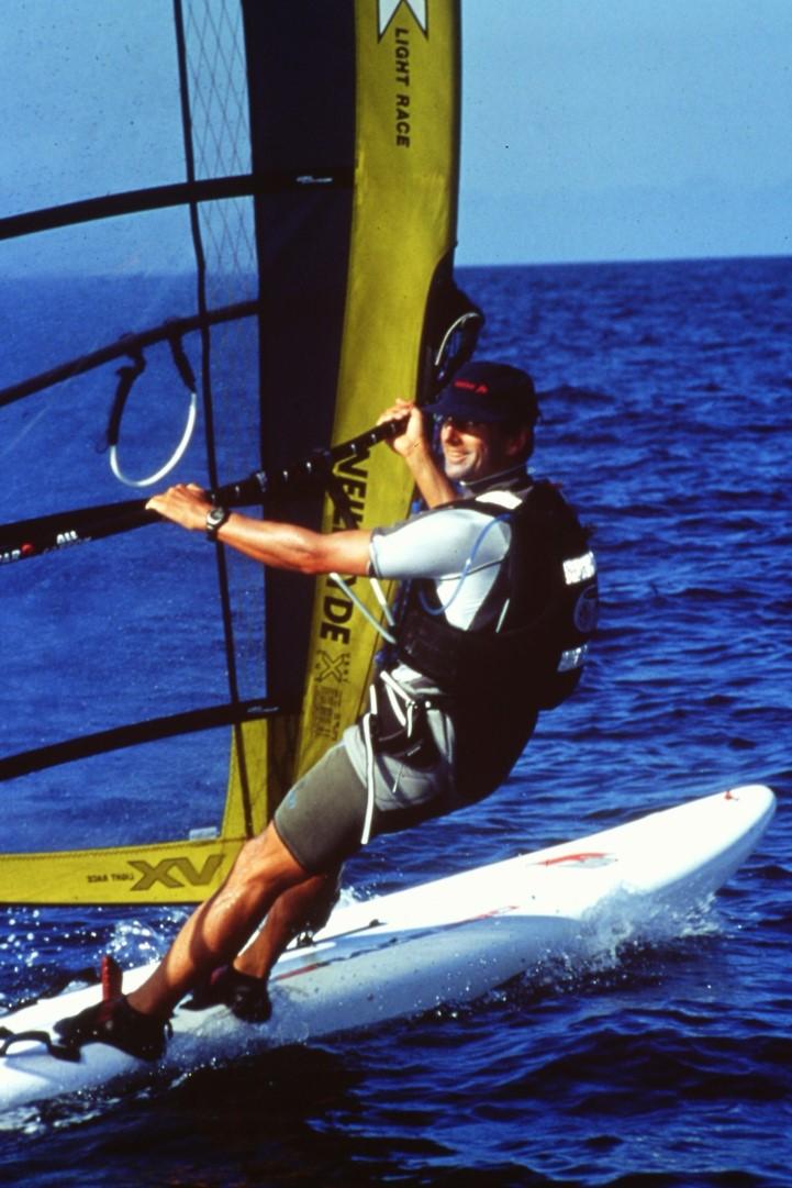 Richard Cooper windsurfing around the British Isles