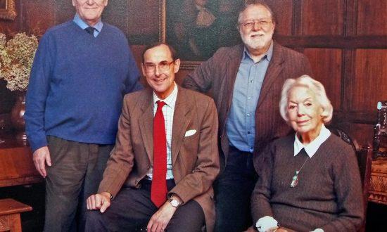 Michael Gray (left) with fellow Founder Trustees Merchants House Trust