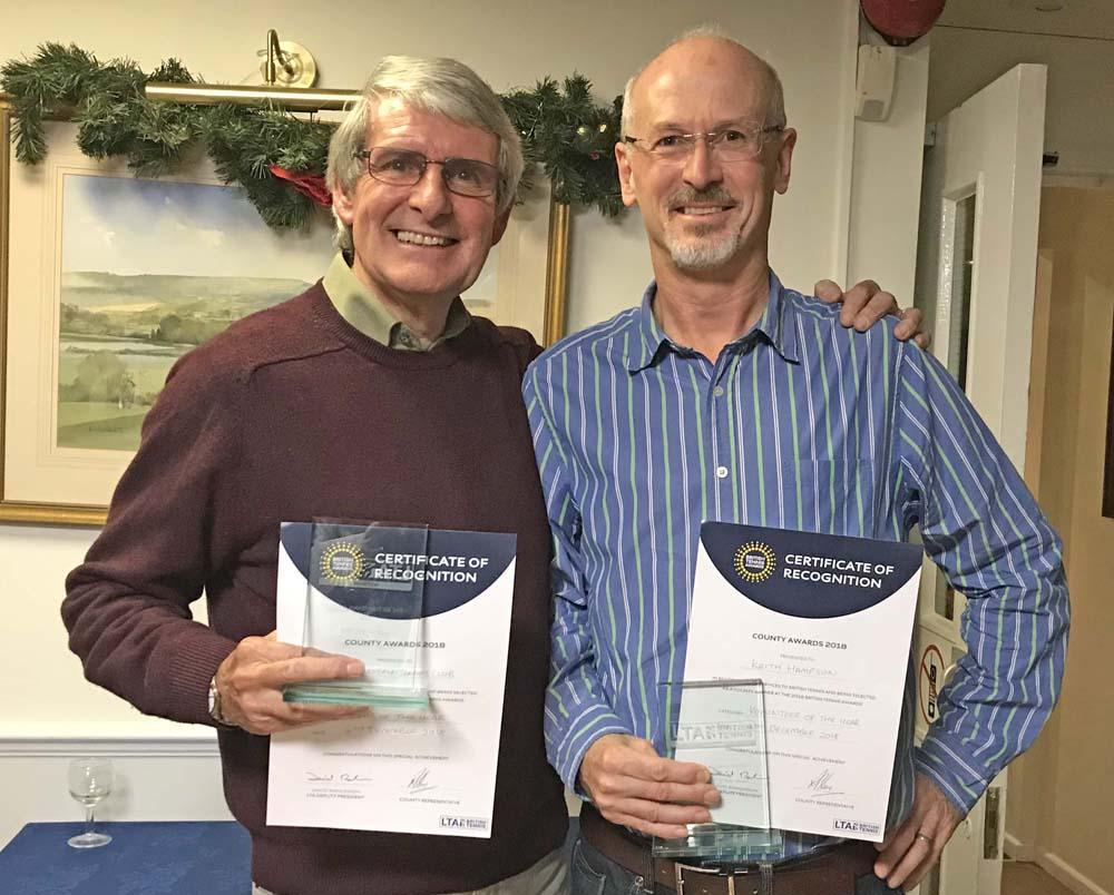(L to r): Club Chairman Colin Gratton and Keith Hampson
