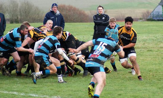 Anthony Maka makes a break from the back of the scrum