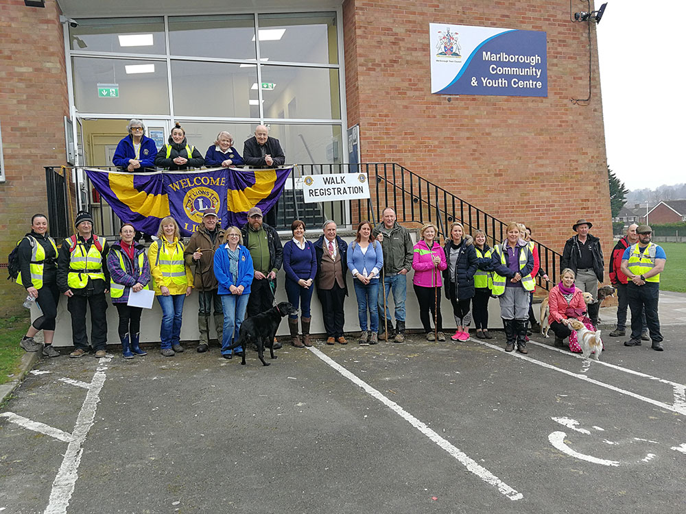 Last year's group of intrepid ramblers assembled outside the Youth Centre starting point
