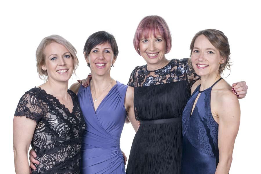 The organisers: Sally Precious-Ward, Zoe O'Reilly, Emily Travis, Rebecca Perry