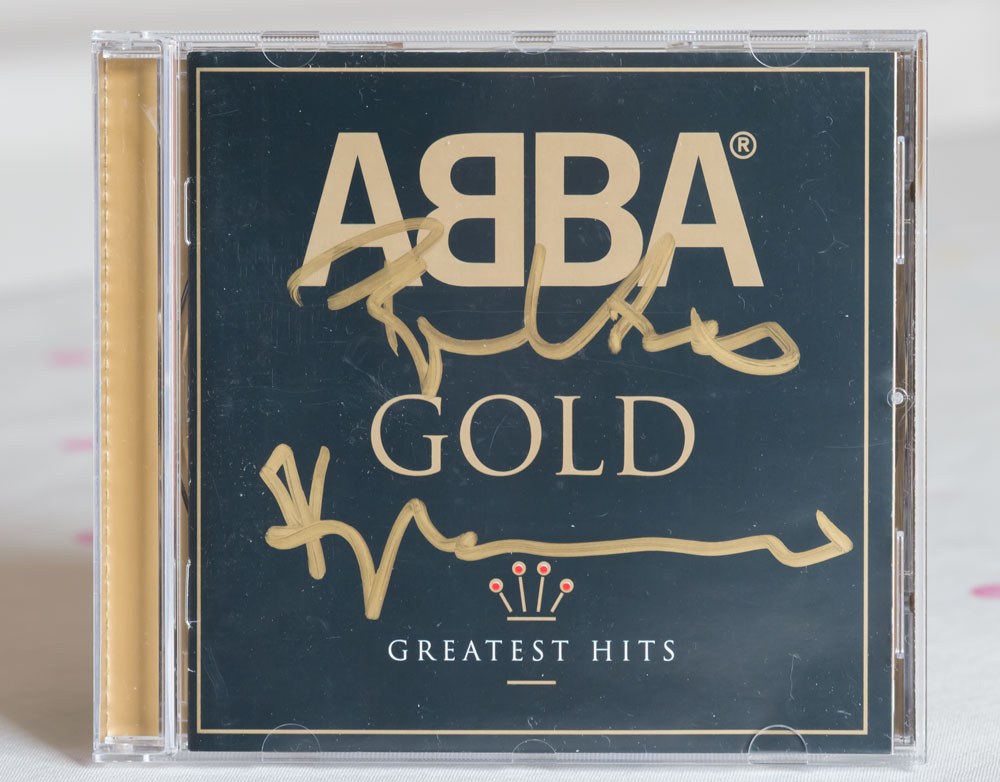 Abba CD signed by Benny and Bjorn