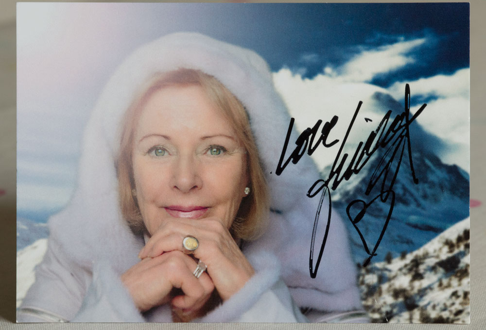 Abba Postcard pic of, and signed by Frida