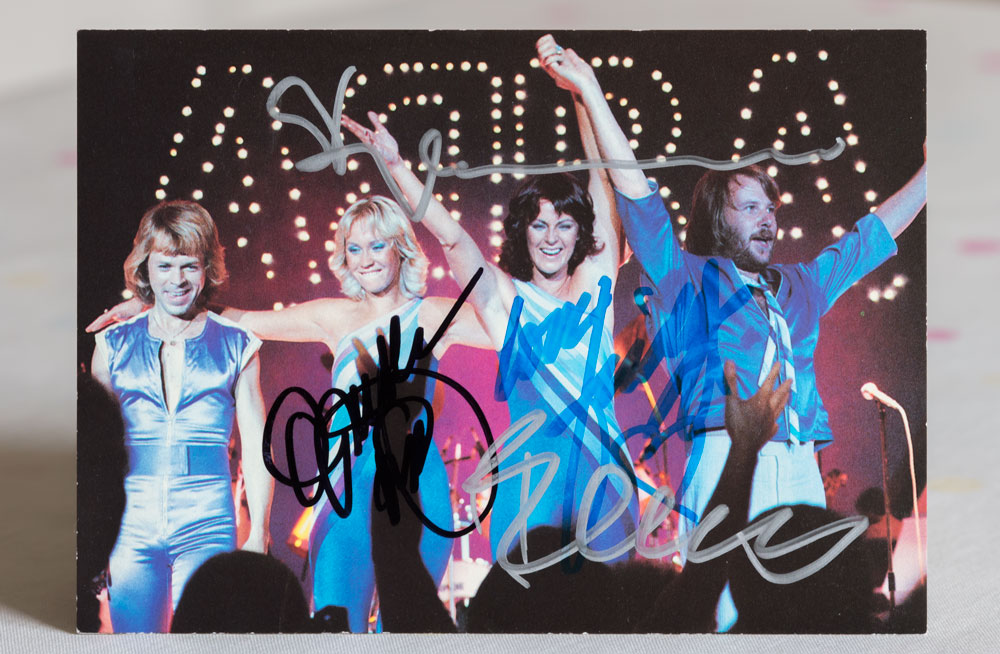 Abba Postcard pic - signed by all
