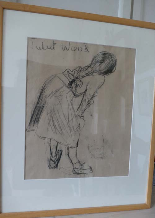 Charcoal drawing by Juliet Wood - then aged 10