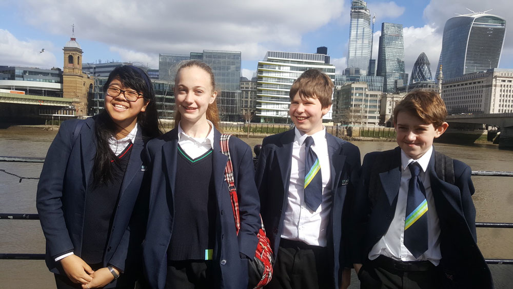 St John's prizewinning students on their day out at 'The Times' in London