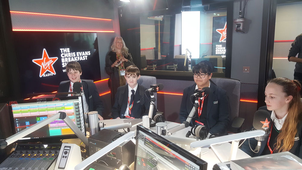 Visiting The Chris Evans Breakfast Show studio