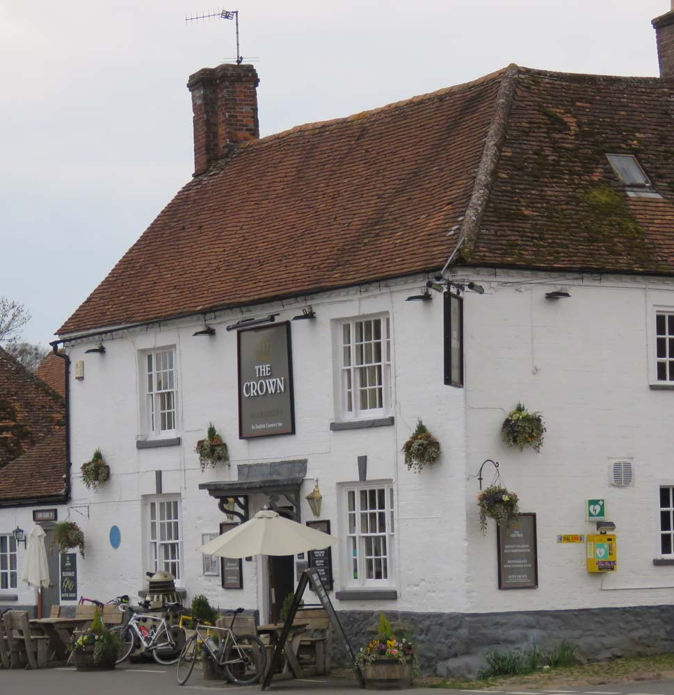 The Crown Inn, Aldbourne - with the blue plaque (above)