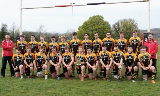 Marlborough's winning Colts team, 23-7 victors in the final against Yeovil Colts