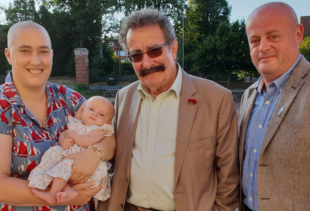 Emma and Ayah with Professor Lord Robert Winston, one of the great IVF pioneers