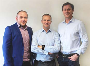 Foregenix directors (l to r): Chief Financial Officer, Paul Humpage, Chief Executive Officer Andrew Henwood & Chief Commercial Officer Benjamin Hosack