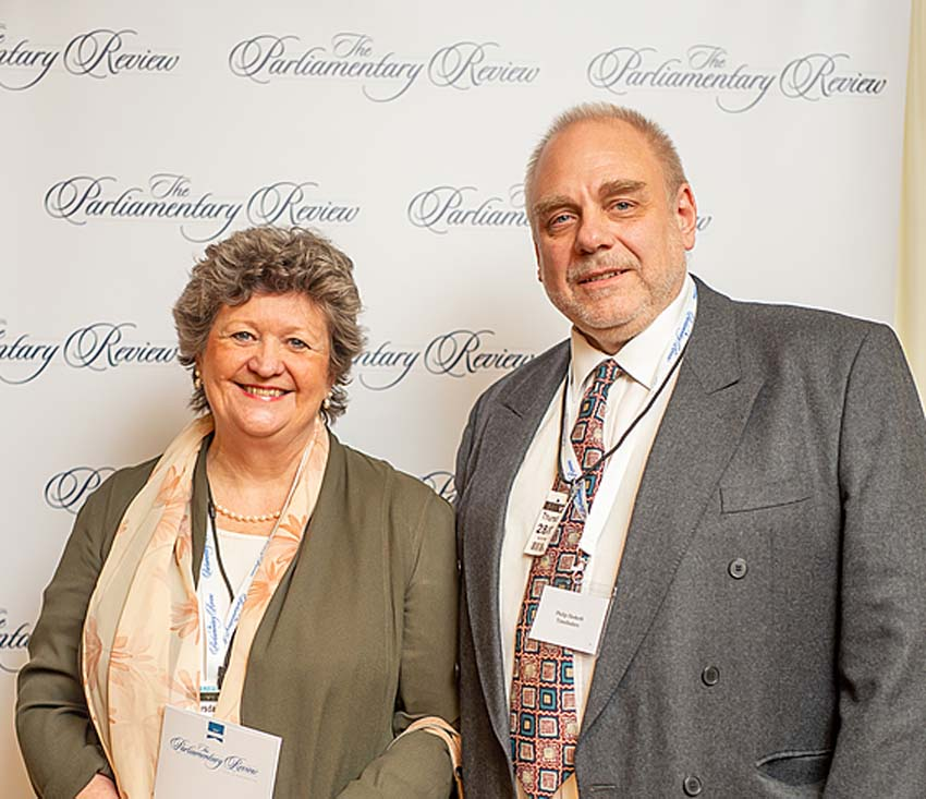 TimeFinders Directors Alison & Philip Hesketh at The Parliamentary Review Gala