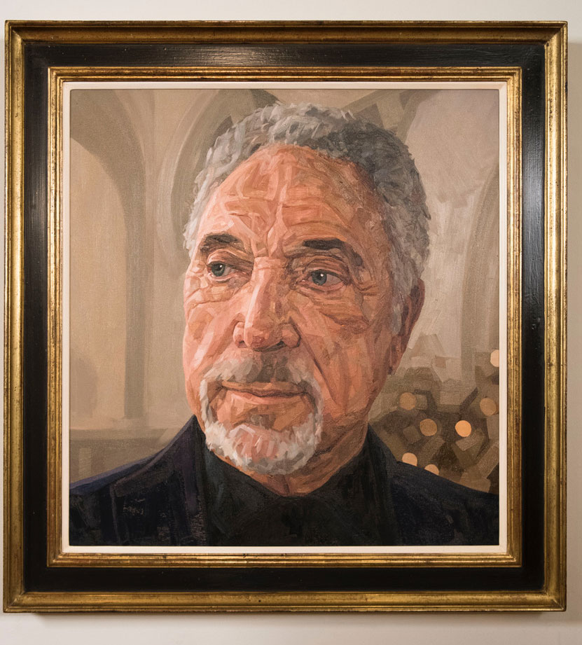 The finished portrait of Sir Tom Jones