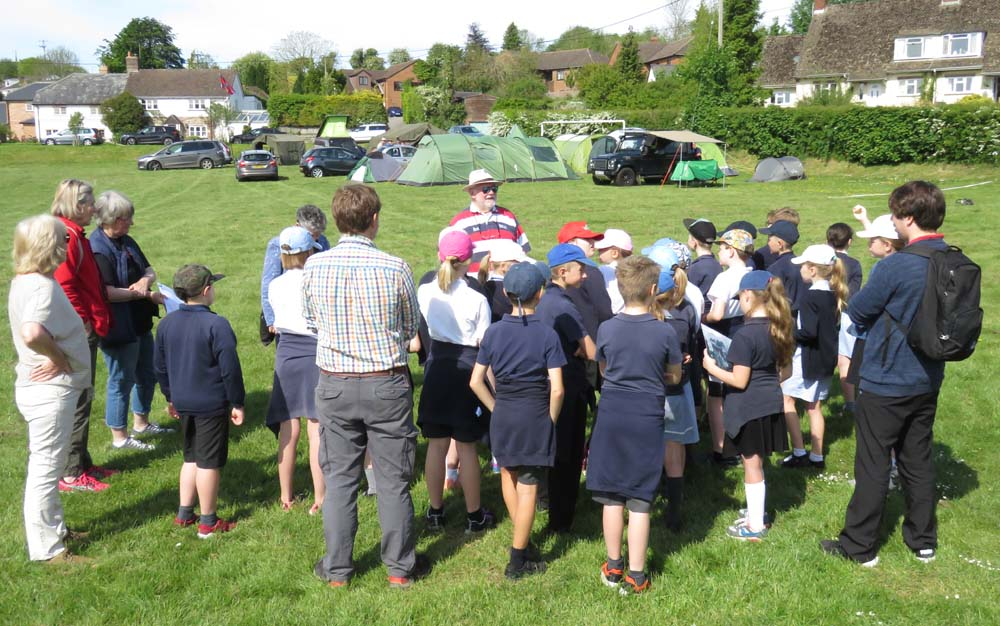 Primary school pupils learn about the dig - and the Band of Brothers
