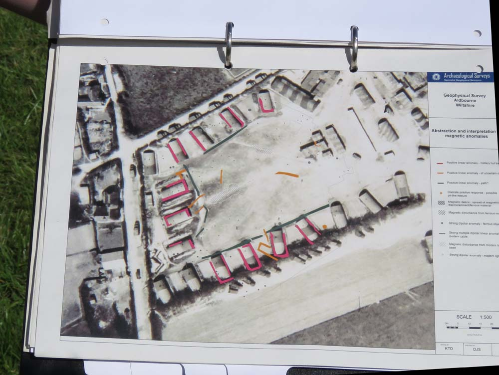 The layout of huts round the field - revealed by the geophysical survey