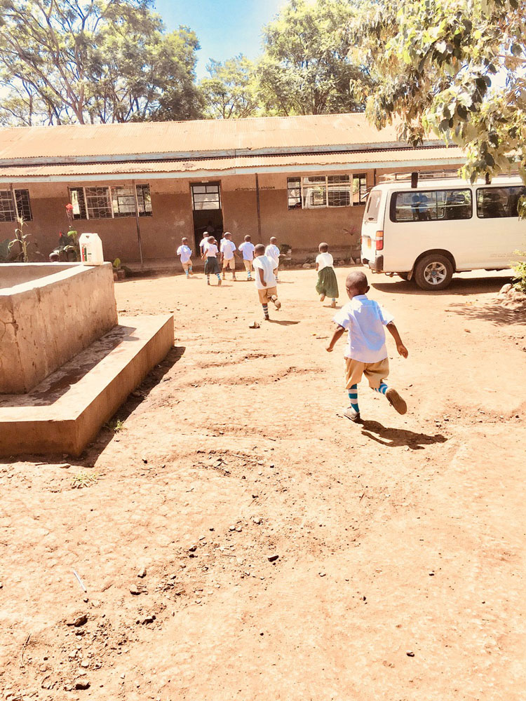 Children at one of the Luna Foundation schools