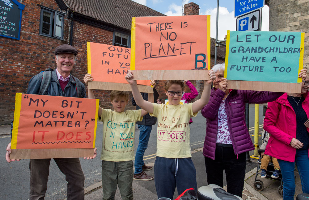 Today's march attracted people of all ages