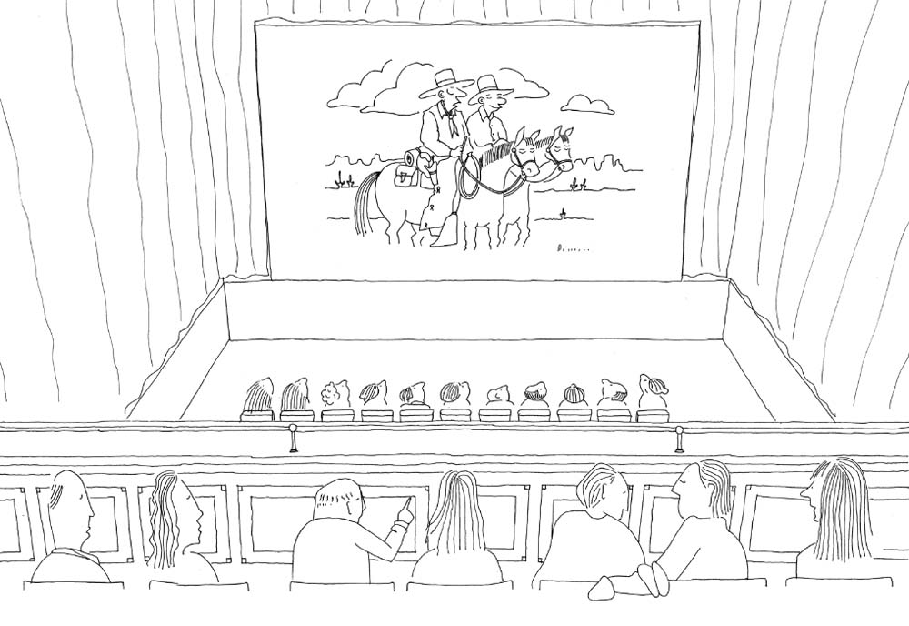 Sketch of the view from the gallery