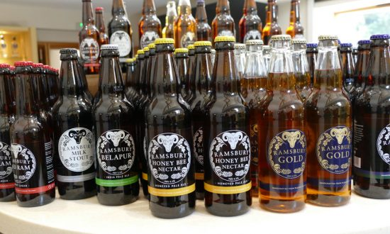 Ramsbury Beer on sale in the shop