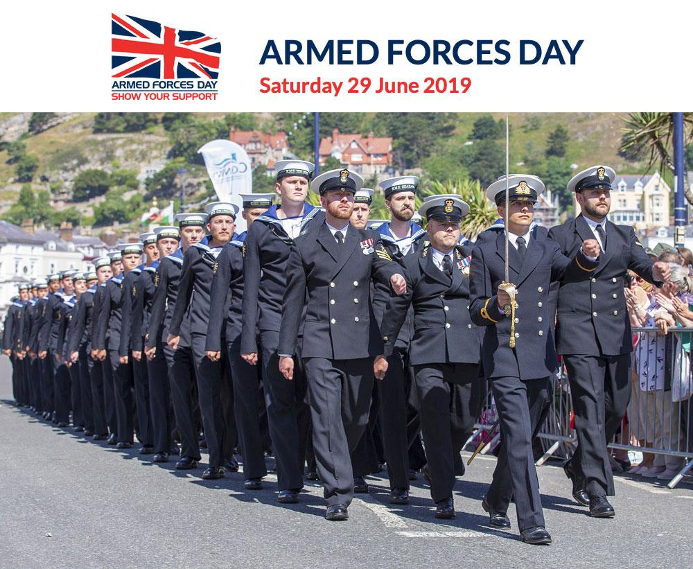 Armed Forces Day in Llandudno last year
