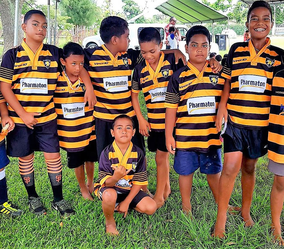 Tonga's young players kitted out courtesy of Marlborough Rugby Club
