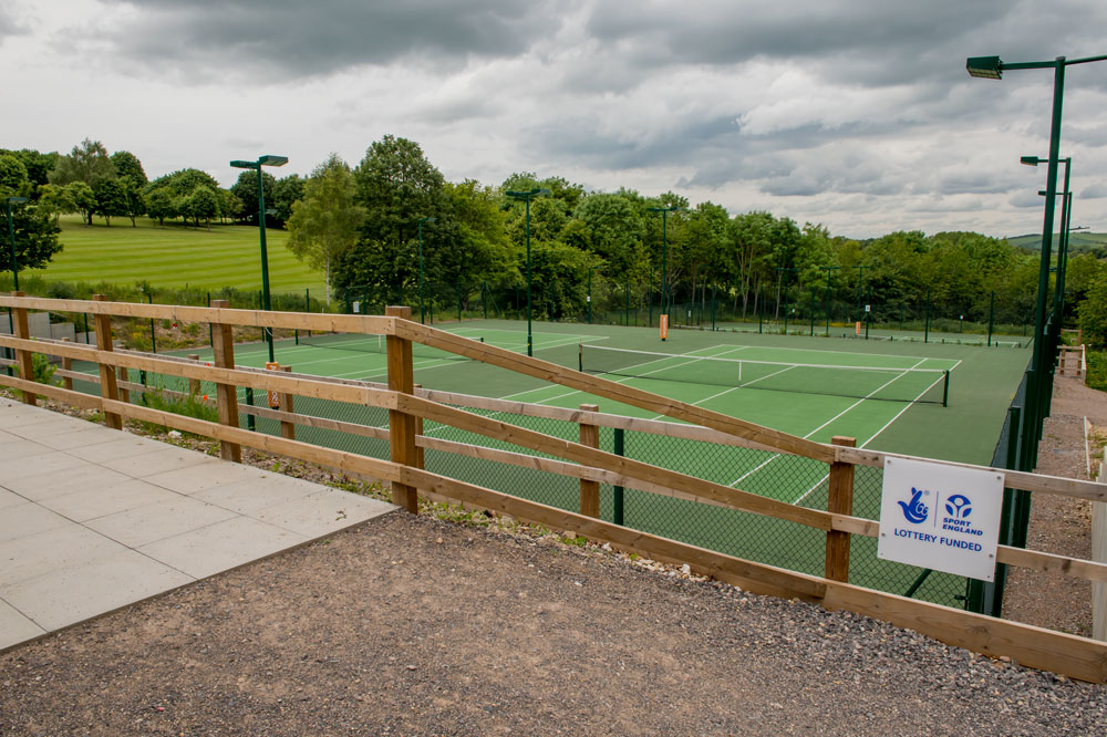 Courts 3-6 at Marlborough Tennis new site on Port Hill