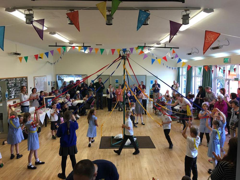 Maypole Dancing Kennet Valley School Summer Fair