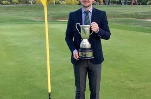 Jamie Amor - with the trophy