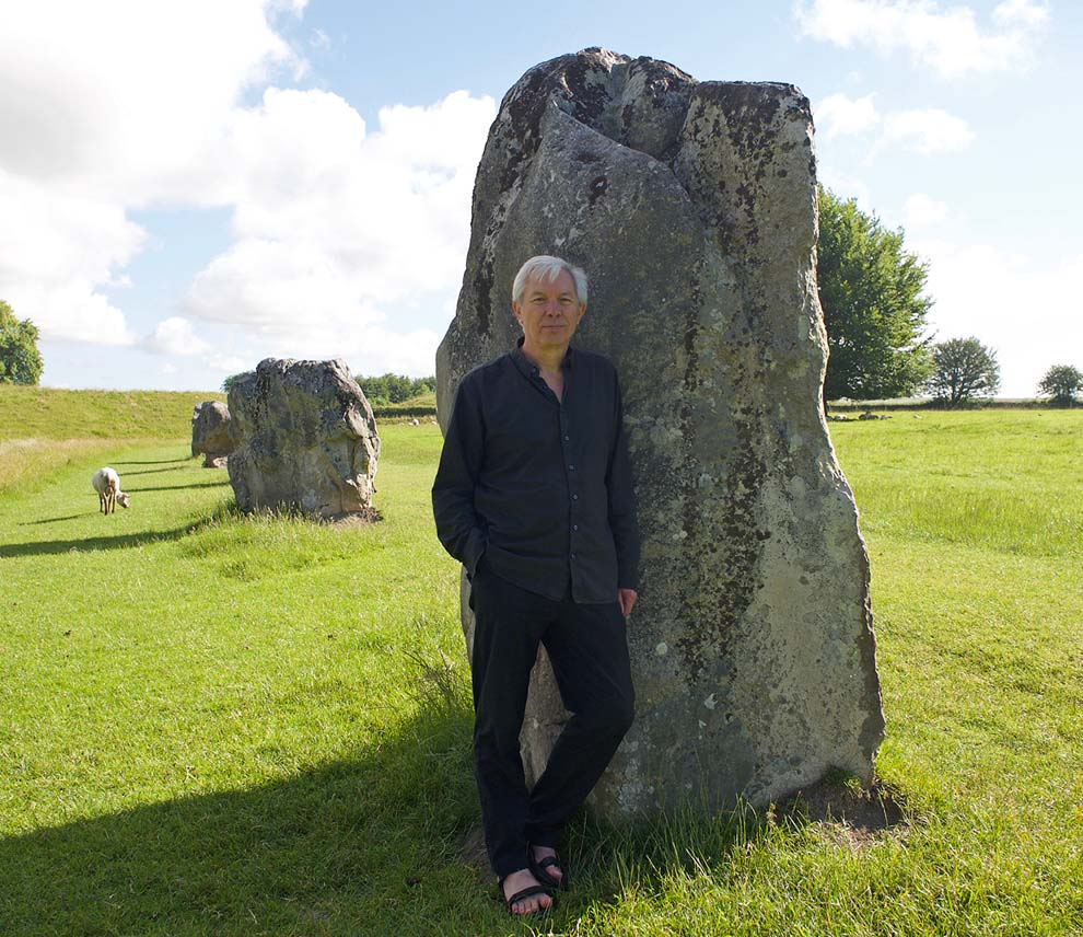 Mike Pitts at Avebury (Photo: Nicky Russell)
