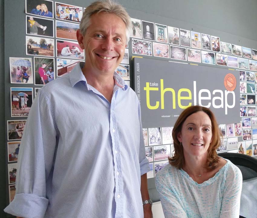 Guy and Milly Whitehead - owners & directors of The Leap