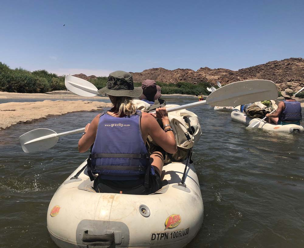 Namibia - setting off for some white water thrills