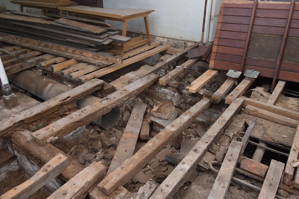 Beneath the floorboards.....