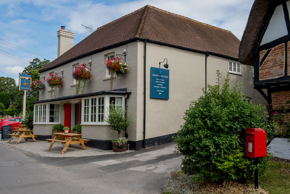 Ham's newly renovated Crown & Anchor Inn - 'A Traditional Village Pub with Rooms' in picturesque Ham