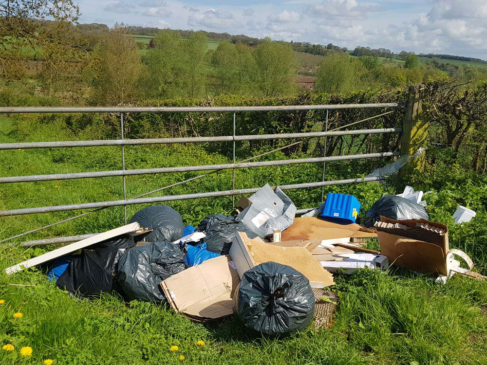 The results of the fly-tipping in Chopping Knife Lane (Photo: Wiltshire Council)