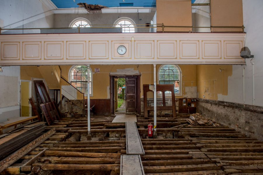 Inside Marlborough's old chapel and new Parade Cinema - plenty of work to be done