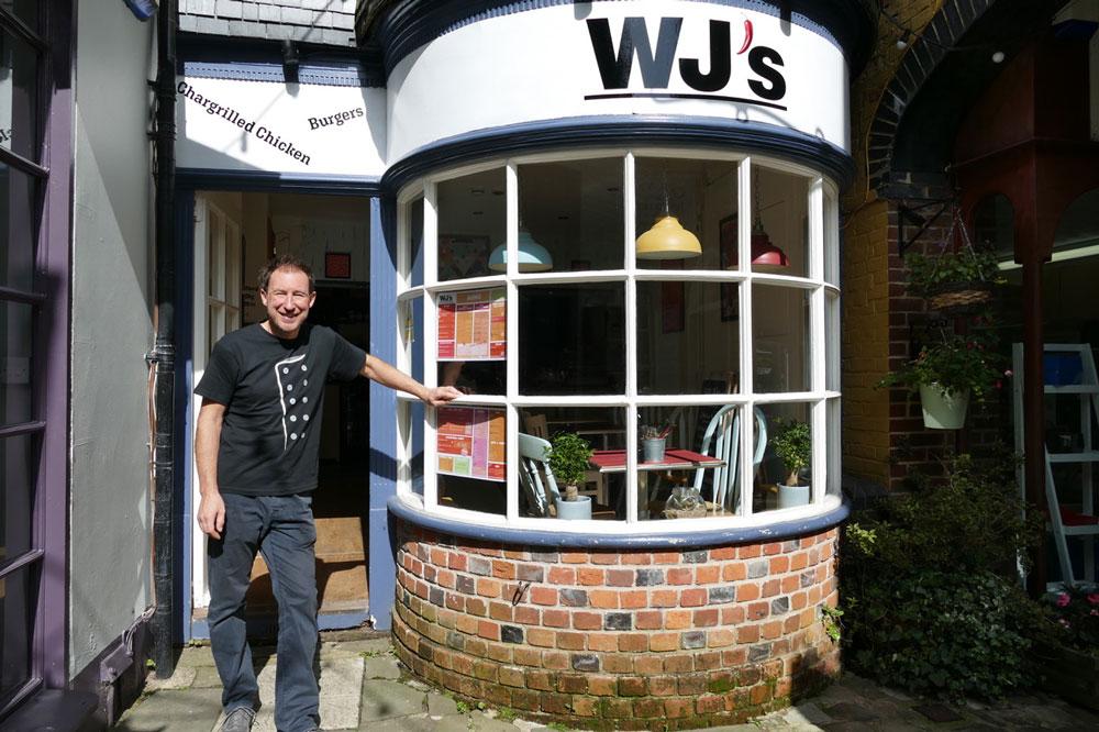 Mark Waring-Jones outside WJs in Hughenden Yard
