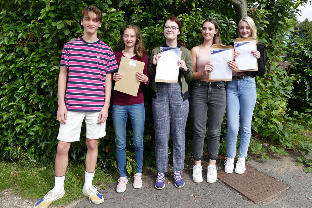 Some of the Pewsey Vale high achieving students (l-r):  Piers Hamilton, Hannah Gray, Libby Warman, Katie Whiston and Emily Caitlin