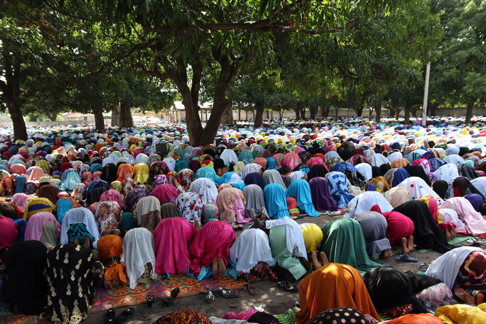 The Prayer Ground in the centre of Gunjur at the festival of Eid Al-Adha