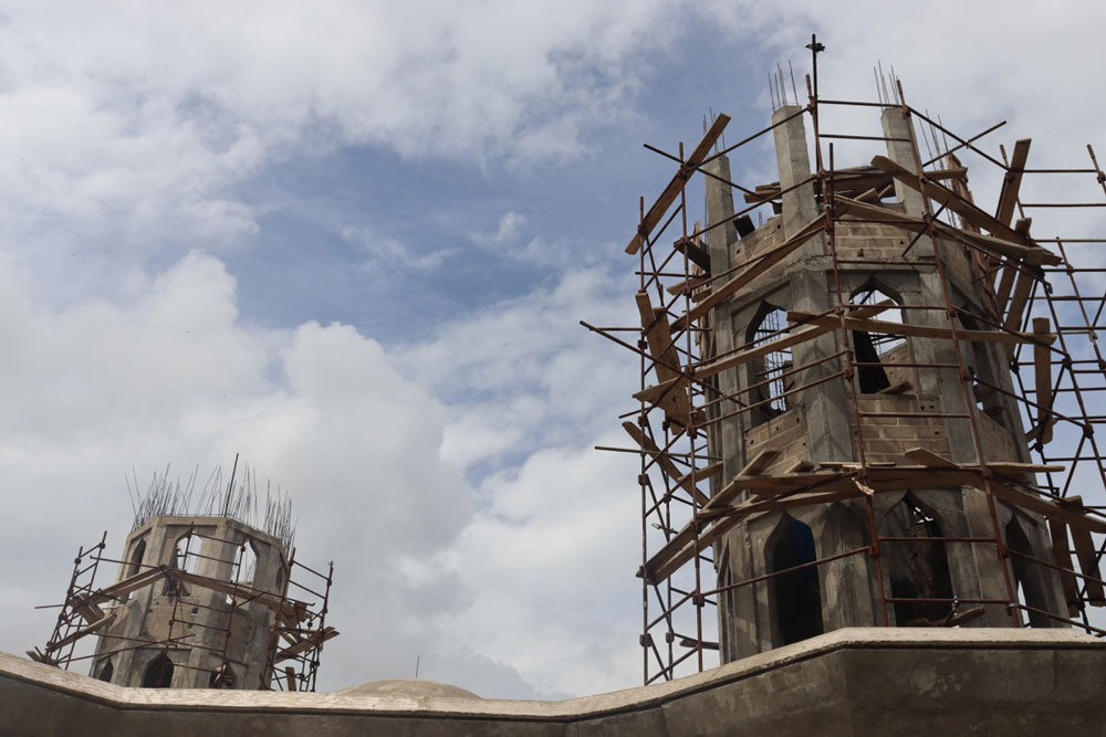 Mosque under construction in Gunjur