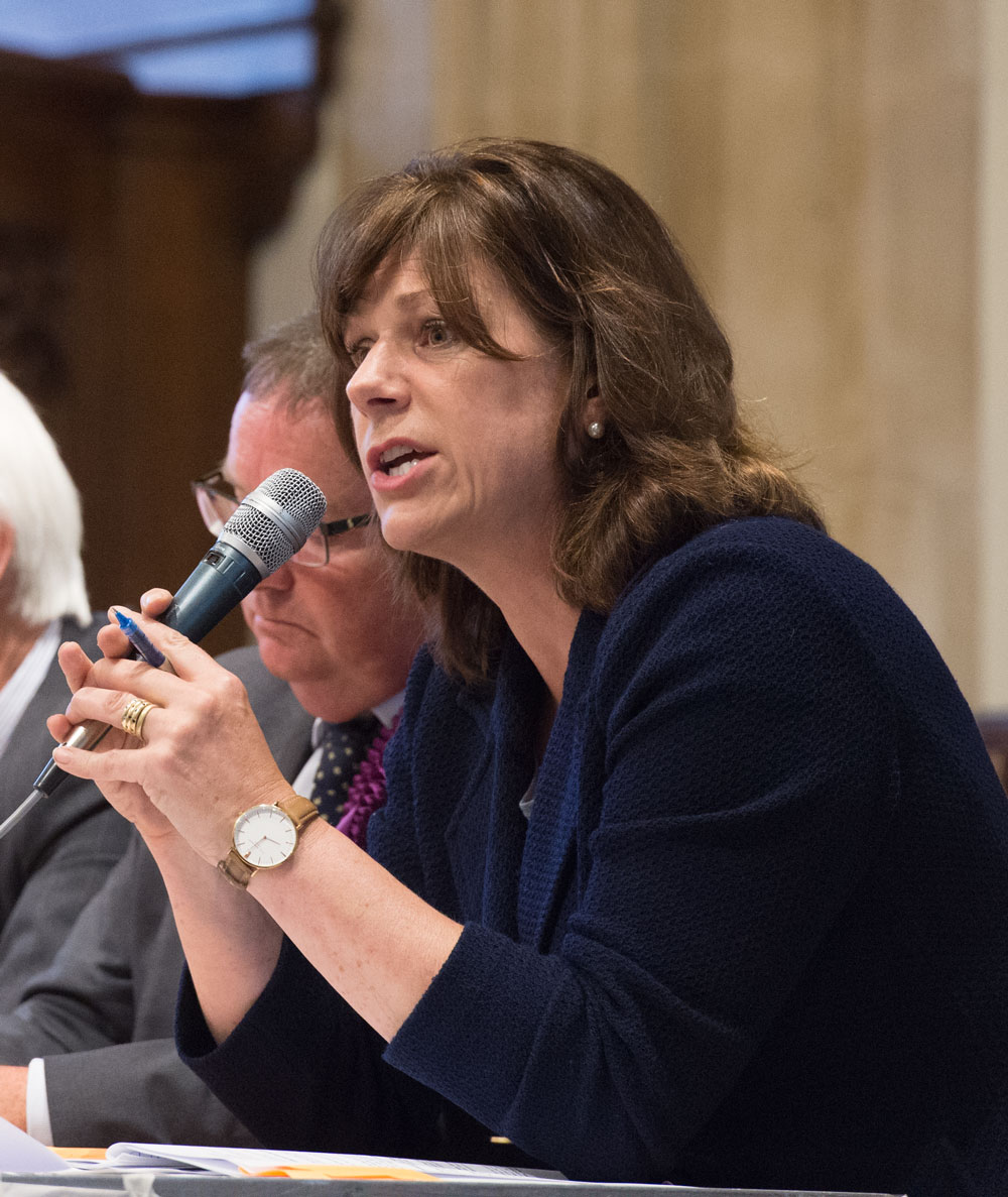 Claire Perry at the St Mary's Election Hustings prior to the last Election