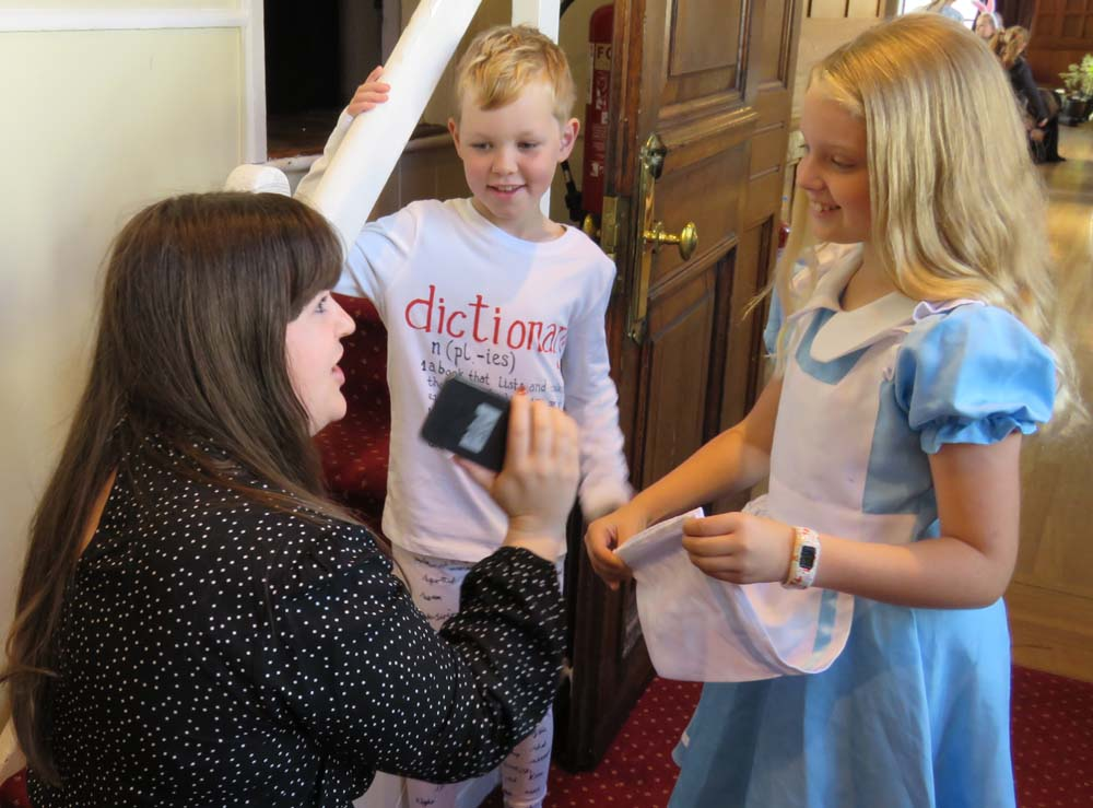 An Alice (Alexis) & a very clever dictionary (Henry) - interviewed by BBC Wiltshire